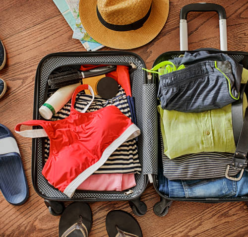 Pack your suitcase cleverly to prepare for your vacation
