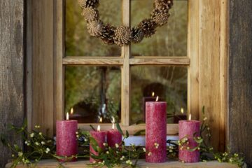 Decoration ideas with mistletoe and cones