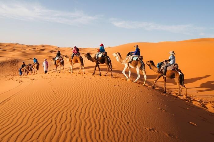 horse riding in desert morocco