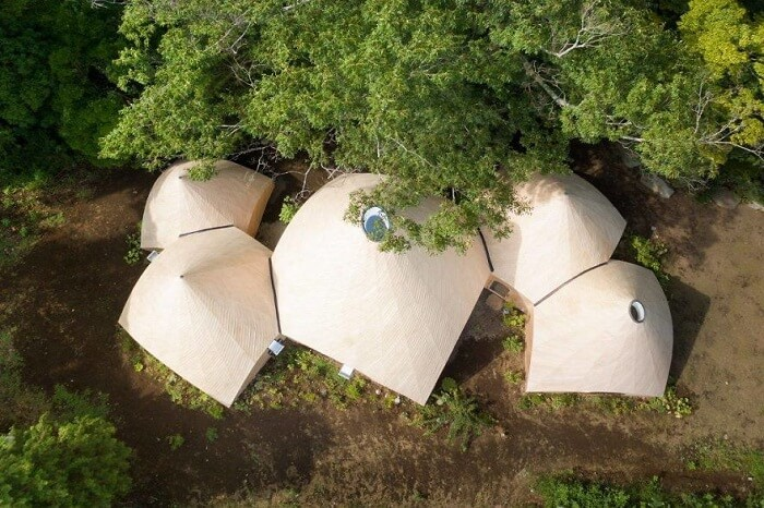 Forest house in Japan also known as Jikka