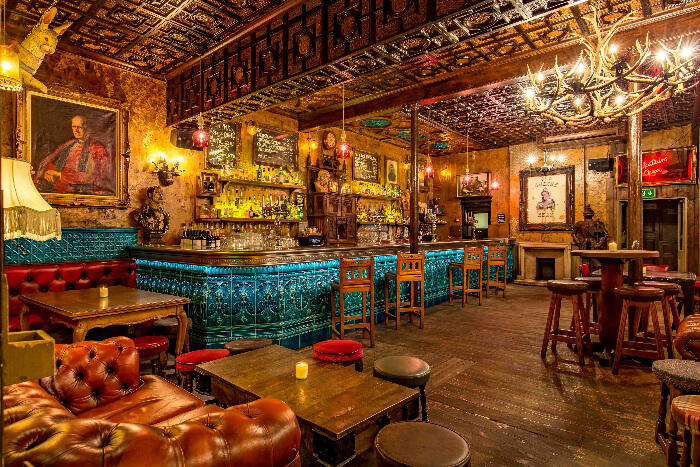 inside a lavish haunted pub